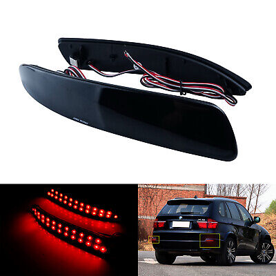 Fit BMW X5 E70 M 2006-13 LED Bumper Reflector Light Lamp Black Smoked Lens Cover • 18.90£