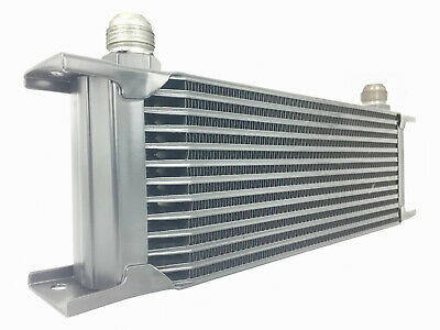 Oil Cooler - Silver 13 Row Universal Front Mount Oil Cooler - AN8 3/4 16 UNF • 39.99£