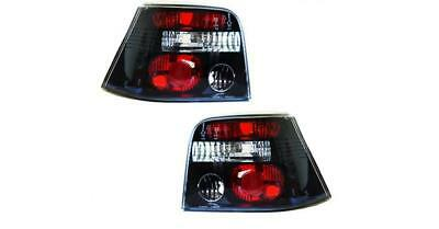 Volkswagen Golf MK4 1997 - 2006 HB Tuning Rear Tail Light Lamp Clear/Black PAIR • 66.40£