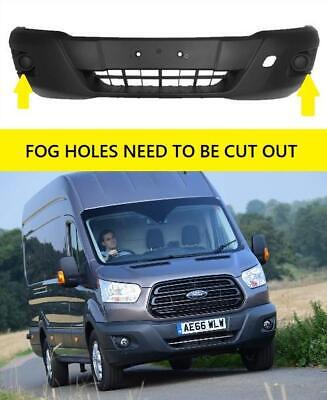 Ford Transit Mk8 2014 - 2019 Front Bumper With Marking For Fog Holes New • 89.99£