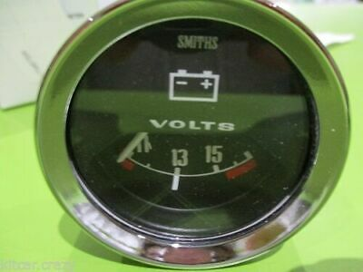 Smiths Analogue Voltmeter , 50mm Black Face With Chrome , Mini , Mg, Gae122 • 50£