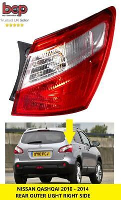Nissan Qashqai 2010 - 2014 Rear Light Tail Light Outer Driver Side Right Led New • 59.99£