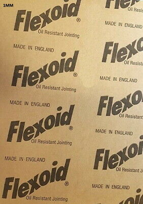 GASKET PAPER MATERIAL - FLEXOID - OIL & WATER RESISTANT - 1mm A4 Sheet • 2.35£