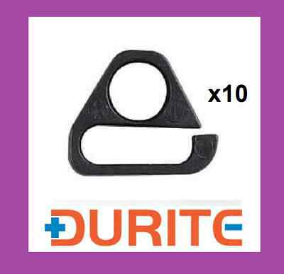 10 X Durite Plastic Clip For Windscreen Washer Tubing Pipe 2 Arm Clip (0-593-06) • 9.99£