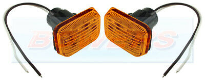2x LAND ROVER DEFENDER OR CLASSIC MINI AMBER LED SIDE REPEATER INDICATOR LIGHTS • 18.98£