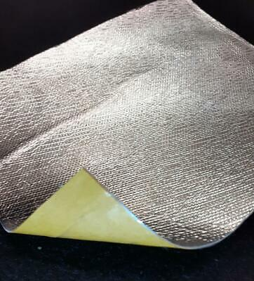 Heat Protection Alloy / Fibre Sheet High Temp Adhesive Backed 250 Mm X 200 Mm • 5£