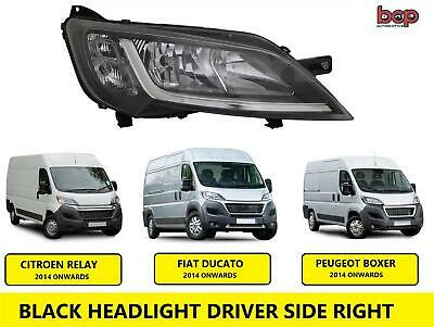 Peugeot Boxer Headlight Black 2014 On Headlamp Right Driver Side Halogen No Led • 87.99£