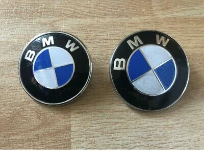BONNET AND BOOT BADGE BLUE  82mm+74mm Fit For BMW E46 E90 MANY OTHERS CH-0063 • 9.99£