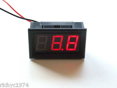 12v 24v VOLT METER LEISURE BATTERY CHARGING MONITOR INDICATOR CAMPER CARAVAN 4x4 • 4.55£