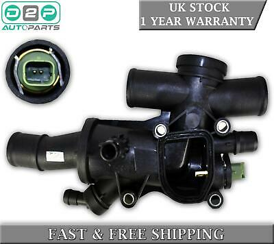 Thermostat With Housing + Sensor For Ford Galaxy Kuga Mondeo Mk4 S-max 2.0 Tdci • 27.99£