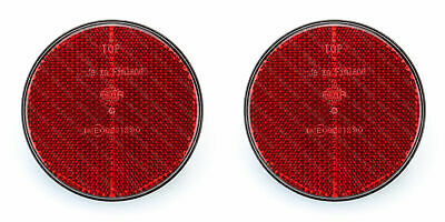 Pair Of HELLA 85mm Round Red Rear Reflectors • 5.99£