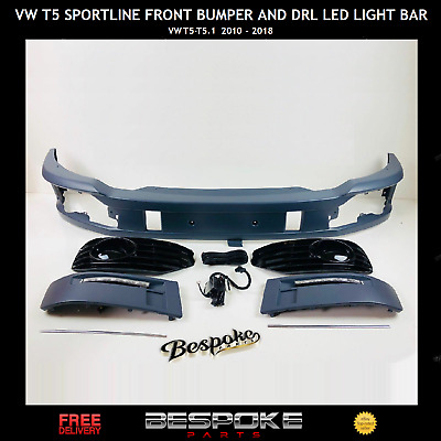 Vw T5 Sportline T5.1 Front Bumper And Drl Led Light Bar Kit For Transporter  • 349.99£