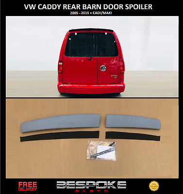 Vw Caddy Sportline Style Rear Barn Door Roof Spoiler Fits 2005- 2015 Abs Primed • 59.99£