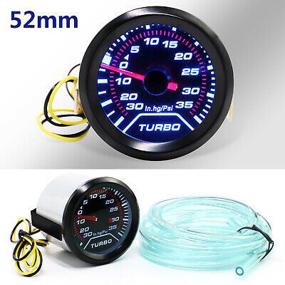 52mm Turbo Boost Pressure Pointer Gauge Meter Smoked Dials 30Psi Pob LED • 13.49£