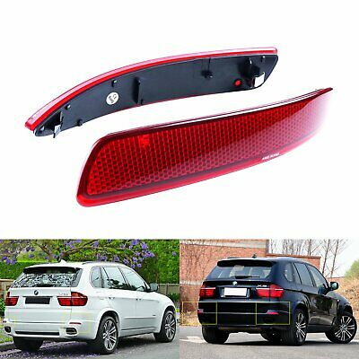 Pair Left + Right Rear Bumper Reflector Red Lens New For BMW X5 E70 M 2006-2013 • 14.88£