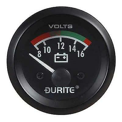 Durite 12V Illuminated Battery Condition Volt Meter 52mm Gauge 0-523-22 • 31.95£