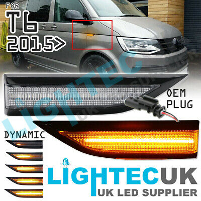 Vw T6 Transporter Sequential Dynamic Clear Led Side Repeater Signal Indicators • 24.95£