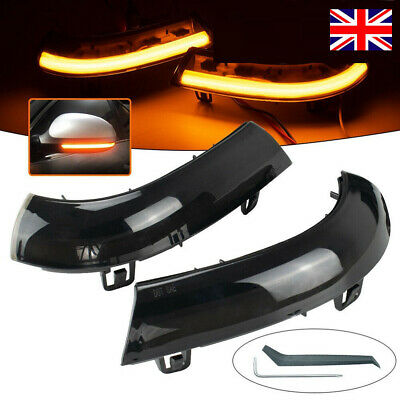 LED Turn Signal Light Wing Mirror Indicator Fit For VW MK5 Golf Passat EOS JETTA • 19.89£