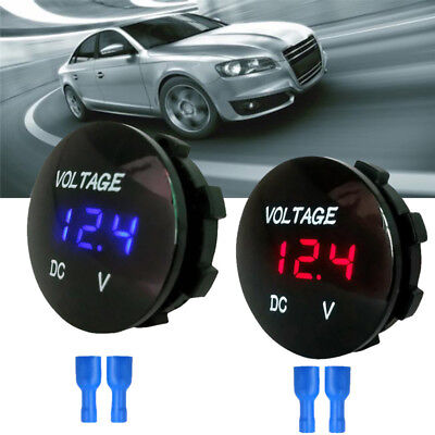 Waterproof Car Motorcycle Led Panel Digital Voltage Meter Display Voltmeter KYPT • 6.44£