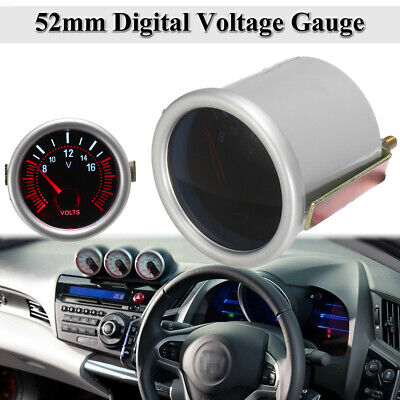 2'' 52mm Universal Car Boat Auto LED Display Voltmeter Volt Voltage Gauge  -/ ! • 9.24£