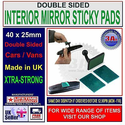 CAR INTERIOR REAR VIEW MIRROR STRONG ADHESIVE STICKY PADS X 4 • 2.99£