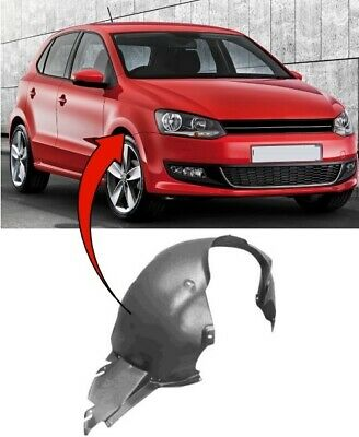 Vw Polo 2009-2017 Front Wing Arch Liner Splash Guard Driver Side Complete New • 22.30£