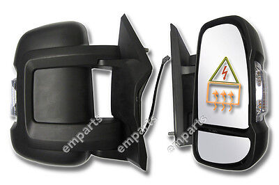 Peugeot Boxer Full Door Wing Mirror ELECTRIC HEATED Short Arm Right O/S 2006 On • 54.75£