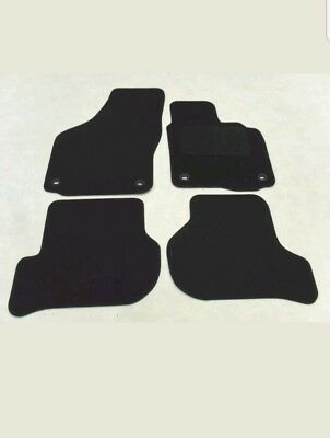 VW Golf Mk5 2004-09. Tailored Fit Car Mats Black. Oval Fixing Type • 11.89£