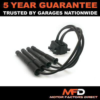 Ignition Coil Pack Spark Plug Leads For Renault Clio Kangoo Modus Twingo 1.2 • 19.92£