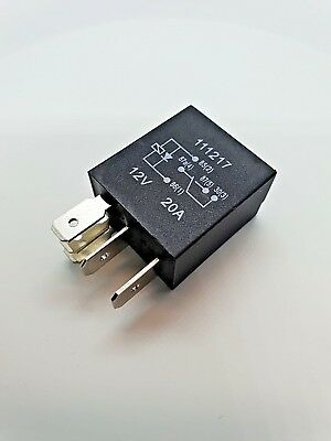 Quality Micro Relay 5 Pin With Diode, Changeover 12Volt 20 Amp. • 2.75£