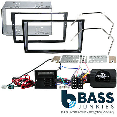 Vauxhall Corsa D Car Stereo Double Din Piano Black Fascia & Steering Wheel Kit • 79.95£