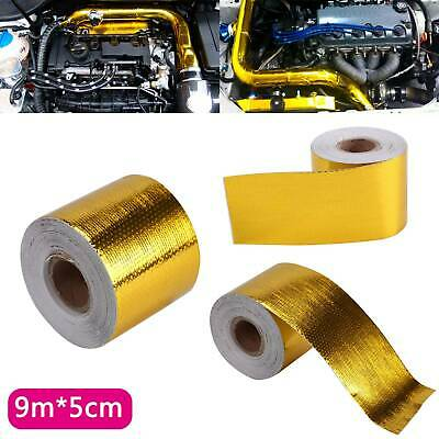 9Mx5CM Gold Roll Adhesive Reflective High Temperature Heat Shield Wrap Tape UK • 7.79£