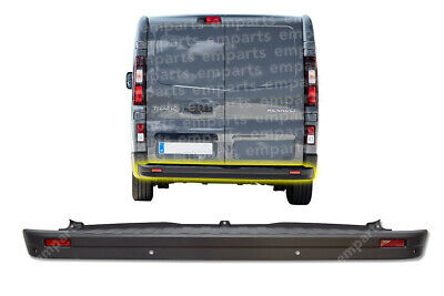 Renault Trafic Rear Center Bumper With PDC Sensor Holes 2014 Onwards • 85£