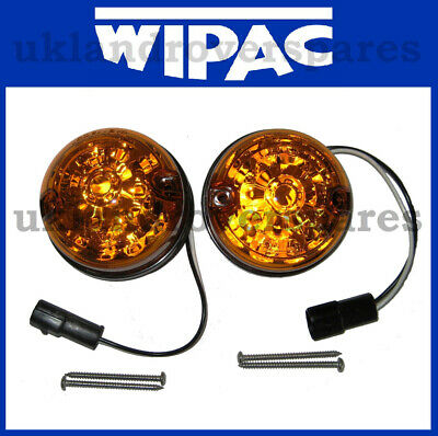 LAND ROVER DEFENDER - WIPAC LED FRONT INDICATOR AMBER 73mm - XBD500040LED, S6061 • 29.99£