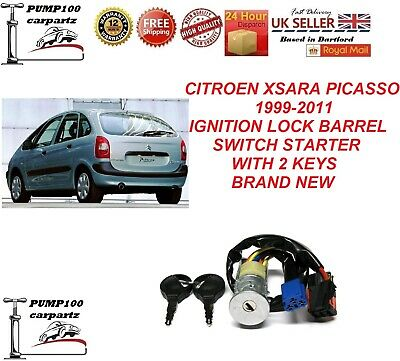 Citroen Xsara Picasso 1999-2011 Ignition Lock Barrel Switch Starter & 2 Keys New • 19.95£