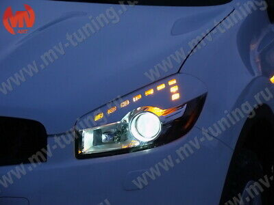 Front Eyelids Eyebrows Headlight Cover For Nissan Qashqai 2010-2013 • 21.13£