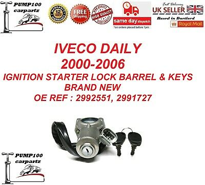 Iveco Daily Mk3 2000-2006  Ignition Starter Switch Barrel Cylinder Lock & Keys  • 23.95£