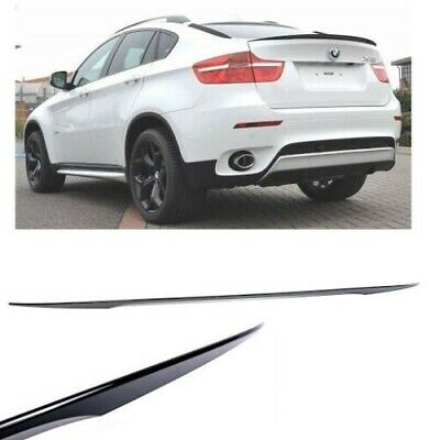 BMW X6 E71 & X6M M Performance Boot Trunk Lip Spoiler Wing Gloss Black Plastic • 79.95£