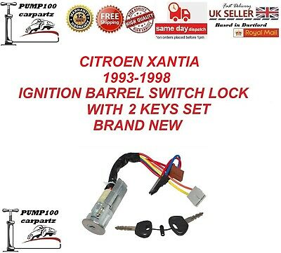 Citroen Xantia 1993-1998 Ignition Barrel Starter Switch Lock With 2 Keys Set New • 99.99£