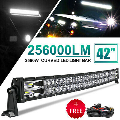 42inch Curved 2560W LED Work Light Bar Spot Flood Combo Driving Lamp Offroad SUV • 83.69£