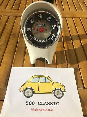 Classic Fiat 500 F Speedo Speedometer Fully Restored **shows Your Car Mileage** • 199£