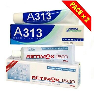 Retinol Pommade A313 50g AND Retimax 1500 30g Skin Cream Anti Age Retinal 2pack • 22£