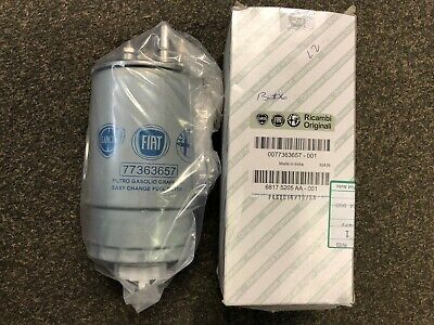 CLEARANCE New Genuine Fiat Punto Grande 1.3 1.9 JTD Fuel Filter #77363657 • 59£