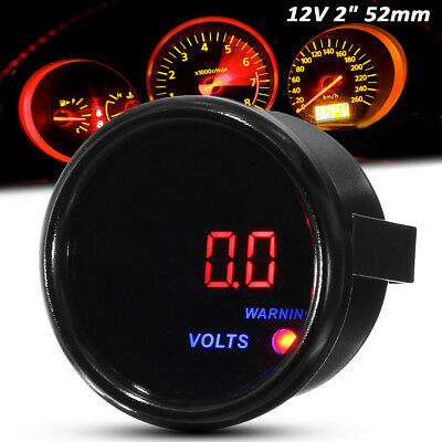2'' 52mm Car Motor Digital LED Display Voltage Volt Gauge  8-18V  Aluminum  • 12.84£