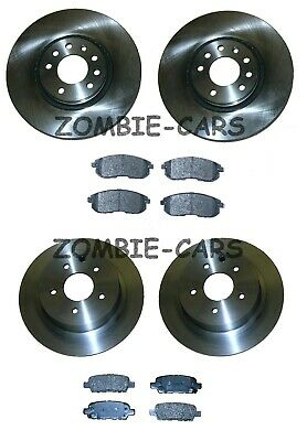 FITS NISSAN JUKE 1.5 1.6 2.0 DCi FRONT & REAR BRAKE DISCS AND PADS SET NEW • 98.99£