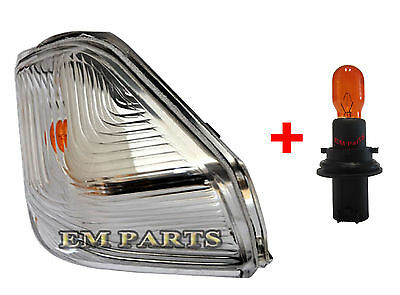 VW Crafter Wing Mirror Door Indicator Lens Right Driver Side O/S 2006 On + BULB • 9£