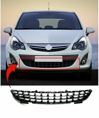 Vauxhall Corsa D 2011-2014 Front Lower Centre Bumper Grille New High Quality • 18.97£