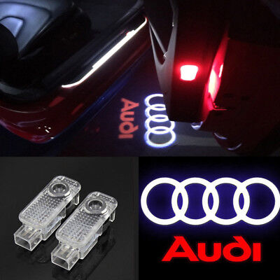 CREE LED Lamps Laser Projector Logo For AUDI Door Courtesy Puddle Shadow Lights • 15.99£