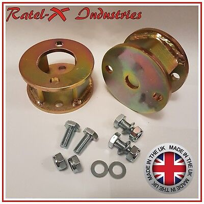 Land Rover Defender 90 110 Discovery 1 50mm / 2  Inch Lift Block Spacer Kit Qty2 • 39.95£