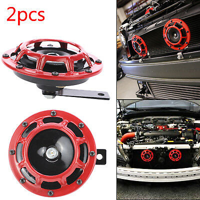 2X Red 12V 139dB Dual Car Grille Horn Compact Super Tone Loud  118 139Db  • 7.99£
